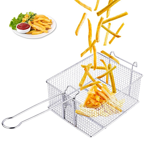 Stainless Steel Non-Stick French Fries Chips Baking Oil Strainer Tray Basket