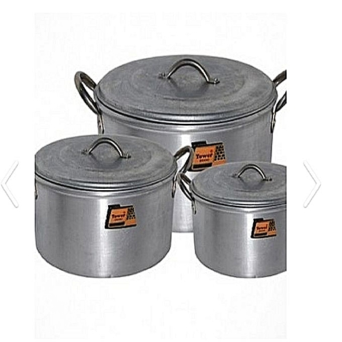 Tower Pot - Set Of 3 Pots