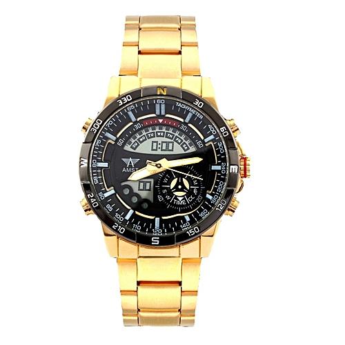 AMST Waterproof Gold Wrist Watch