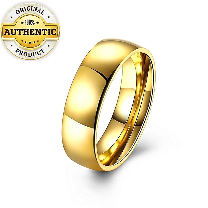 Simfonio Men Ring Gold Wedding Ring For Boyfriend Lover Wedding