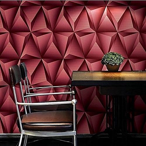 3d Effect Wallpaper Red Colour