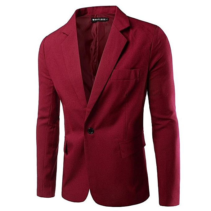 ec2e71e8f44e Wine Red NEW Mens Fashion Brand Blazer British's Style Casual Slim Fit Suit  Jacket Male Blazers