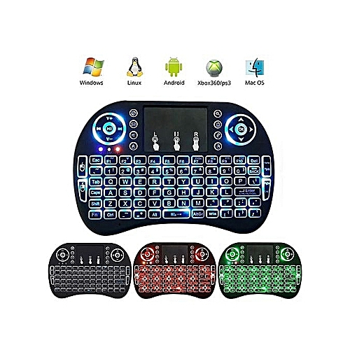 Wireless Keyboard, Mini I8 Wireless Touchpad Keyboard Adjustable Speed Air Mouse Game Keyboard With Backlight For Smart Tvs