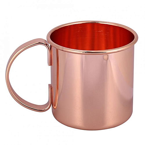 1Pc Stainless Steel Copper Plating Beer Milk Coffee Tea Mug Home Bar Drinking Cup With Handle