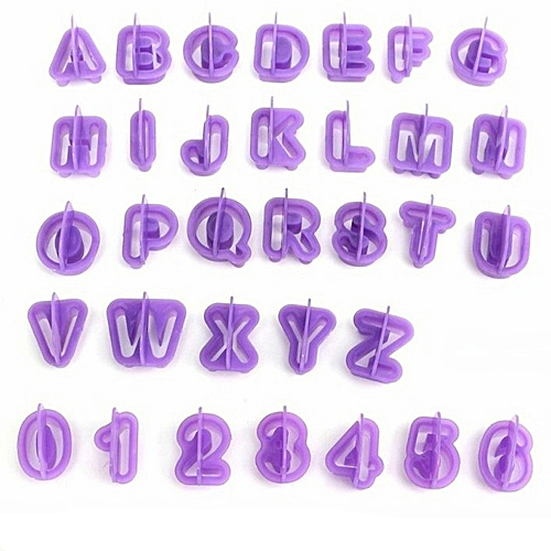 Fashion 40 Pcs Alphabet Letter Number Fondant Cake Biscuit Baking Mould Cookie Cutters