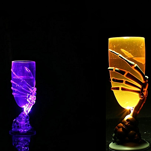 Glowing Wine Cup Claw Party Spooky Skeleton SKull Halloween Goblet LED Scary