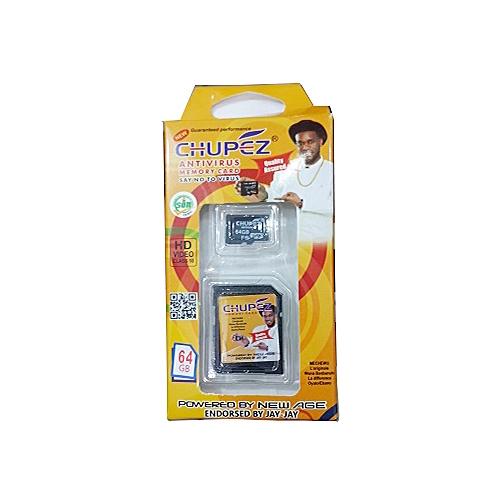64GB Memory Card + Antivirus Micro SD Card 101% Durability