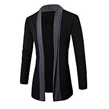 ddafdf58b2c3f JummoonStylish Men Fashion Cardigan Jacket Slim Long Sleeve Casual Coat DG  M -Dark Gray