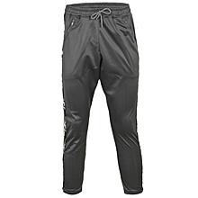 Tapered Camo -Trimmed Drawstring Jersey Trouser - Ash