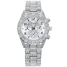 c63d71b2003 New Fashion Alloy Crystal Quartz Rhombus Bracelet Bangle Women  039 s Wrist  Watch