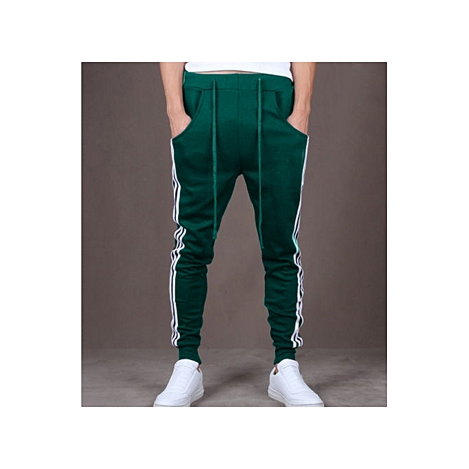 7565925910b2d ... Mens Slim Fit Sport Pants Long Trousers Tracksuit Fitness Workout  Joggers Gym Sweatpants -green ...