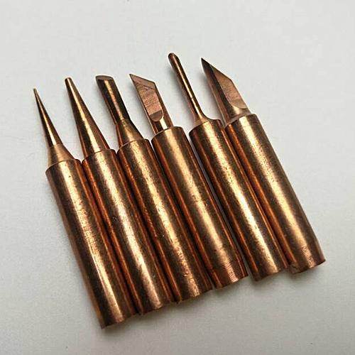 6Pcs/Set Lead-Free 900M T Screwdriver Soldering Copper Tips Set Gold
