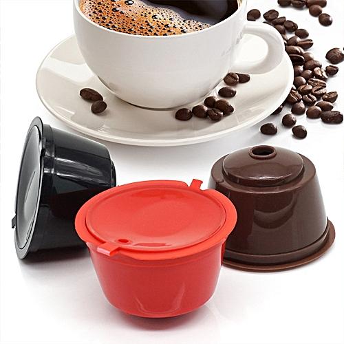 3pcs Sweet Taste Coffee Capsule Filter Plastic Reusable Coffee Capsules