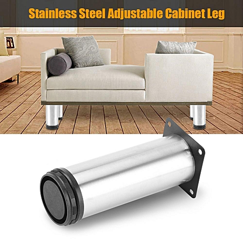 Hot Stainless Steel Adjustable Home Kitchen Cabinets Table Shelf Feet Round Furniture Leg 50*150mm