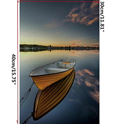 Sea Boat Modern Art Painting Canvas Print Picture Home Wall Decoration No Frame