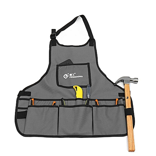 Electrician Tool Bag Apron 14 POCKE T Multifunction Carpenter Rig Hammer Pouch Oxford Cloth Waterproof Electrical Repair Pockets