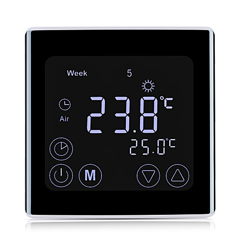 Floureon BYC17.GH3 LCD Display Thermostat - Black