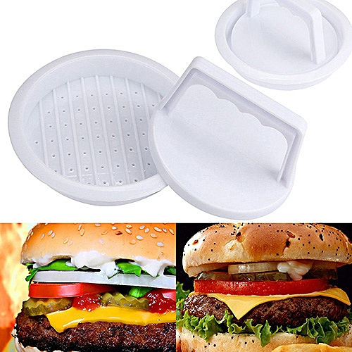 Plastic Burger Multi-function Meat Press - White
