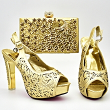 Latest Italian Design Pumps Sandals Rhinestones Shoes amp Bag Crystal  African Party 12 Cm High Heels 6bdc0c9bace8