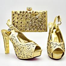 Latest Italian Design Pumps Sandals Rhinestones Shoes amp Bag Crystal  African Party 12 Cm High Heels 091ede408b95