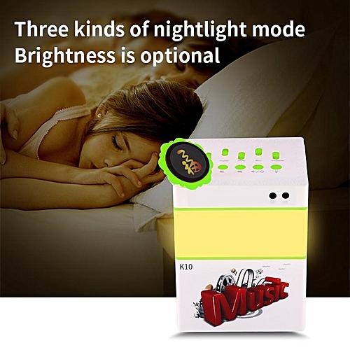 K10 Multifunctions Portable Bluetooth Speakers Handheld KTV Stereo Music LED Bluetooth Speaker Support TF Card LED Lights