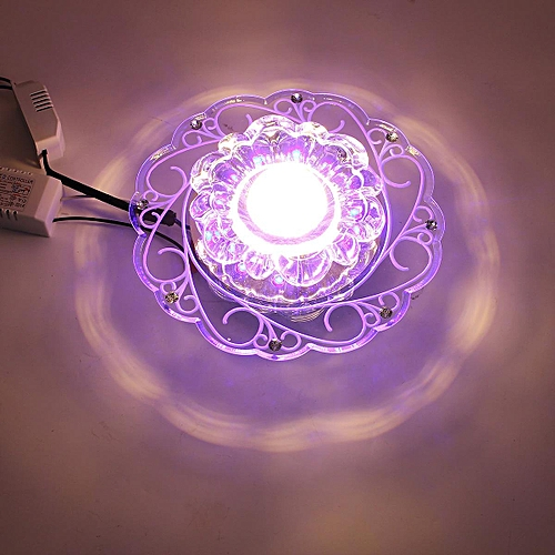New Modern Crystal LED 5W Ceiling Blue Light Superior Lamp Chandelier