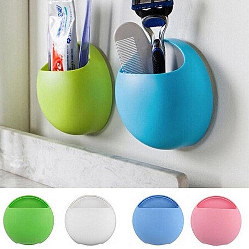 Shinewerop Fashion Toothbrush Holder Bathroom Kitchen Family Toothbrush Suction Cups Holder Wall Stand Hook Cups Organizer