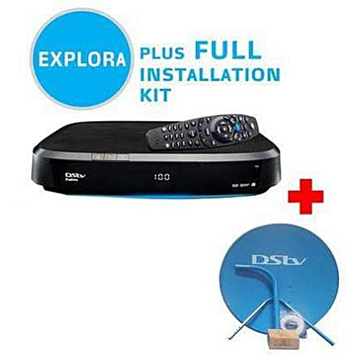 Explora Decoder With Complete Dish Kits,30M Coaxial Cable,1 Month Subscription