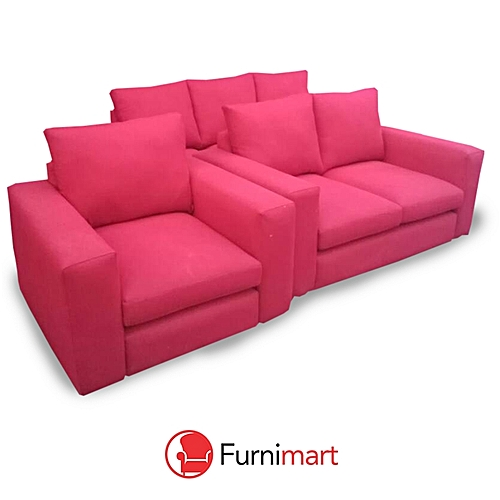 FRT 6 Seater Sofa - Red