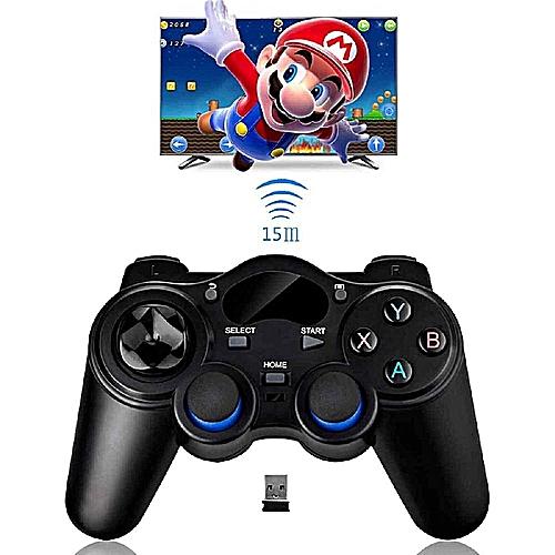 Universal 2.4G Wireless Game Gamepad Joystick For Android TV Box PC GPD XD Black LBQ