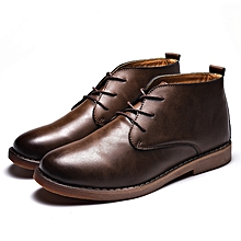 a0c8d6c916696 Top Quality Men Boots Full Grain Leather Oxfords Ankle Boots Vintage Men  Shoes Cool Dark Brown