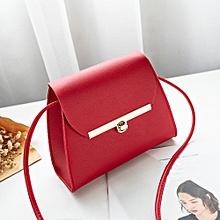 fa1ae4742bd0 Hiamok Women Fashion Pure Color Leather Messenger Shoulder Bag Chest Bag