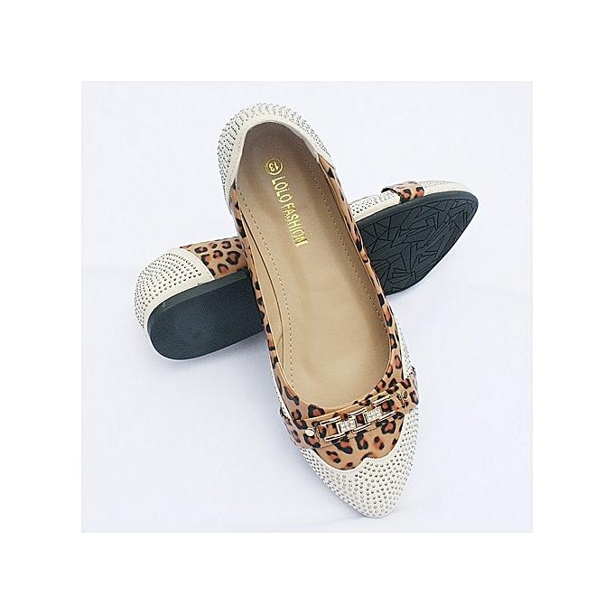 f610c77d86e4 Lolo Fashion Beautiful Women Flat Shoes - Multicolour Leopard Skin ...