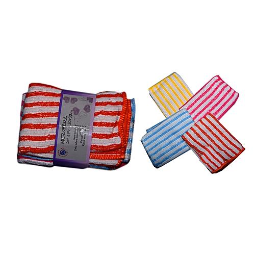 4 Pieces Set Of Micro-Fibra Face Towel - Multi ( 30 X 30 )