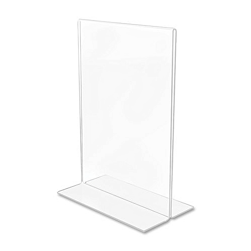 Acrylic Menu Card Holder Poster Display Stand