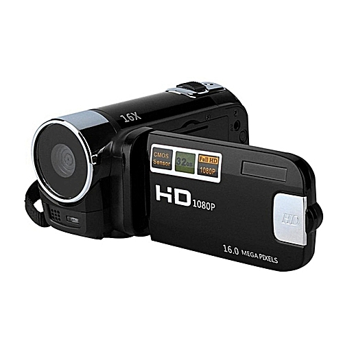 2.7 Inch Full HD 720P Digital Video Camera Camcorder DVR 16xZoomCOMS Video Recoding (Black)