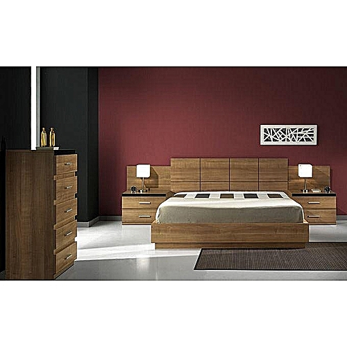 Allan 04 Bed Frame - Brown 6/6 Ft (ORDER WITHIN LAGOS ONLY)