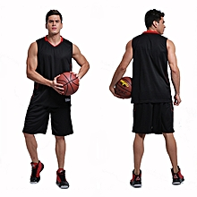 Men  039 s Customized Team Basketball Sport Jersey Shirts And Shorts Set- Black 30f614c24