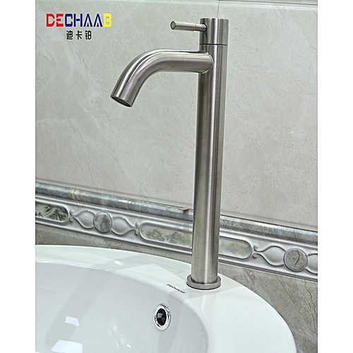 Bathroom Sink Faucet Stainless Steel Single Cold Water Tap