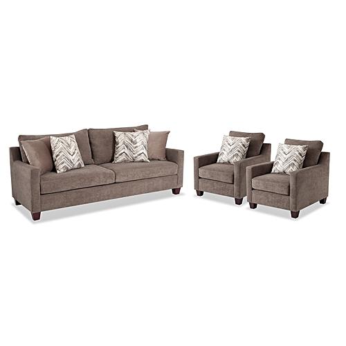Serena Sofa And 2 Chairs + Free Shoerack