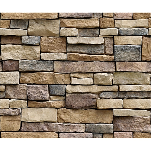 generic 3d stone brick wallpaper pvc wall sticker bedroom living
