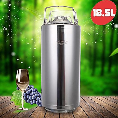 18.5L Beer Keg Growler 304 Stainless Steel Homemade Barrel Bottle Home Brewing