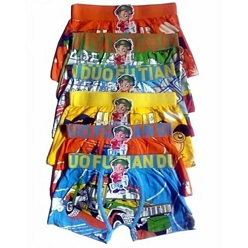 Fashion Multicolour Character Boy's Boxers (SET OF 6)