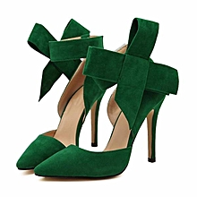 d9960c58f0 Fashion Sexy Butterfly Knot Removable Slim Pointed Toe High Heel Stilettos  Pumps Women-EU