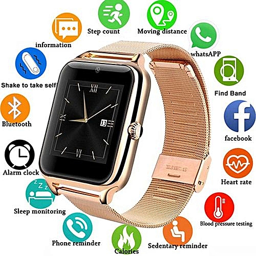 Metal Strap Bluetooth Smart Watch Supports Android & IOS
