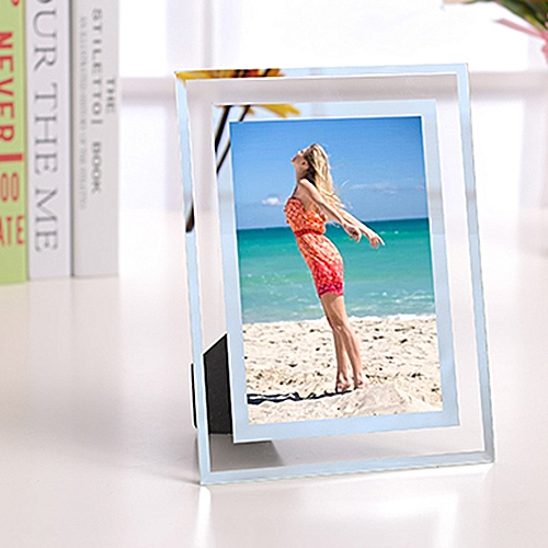 Crystal Photo Frame Picture Display Stand -Transparent