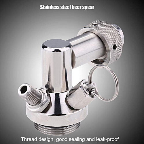 Stainless Steel Beer Spear Quick Fitting Connector Practical Homebrew Tool Mini Keg Dispenser