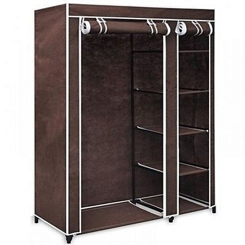 Mobile Wardrobe With Wheels -(Brown)