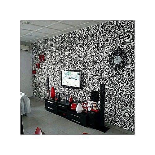 Geometric 3D Wallpaper - Black & White