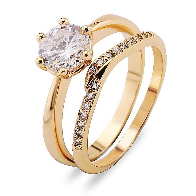 Buy Fashion 2 Pcs Fashion Women Bridal Wedding Jewelry Gold Filled